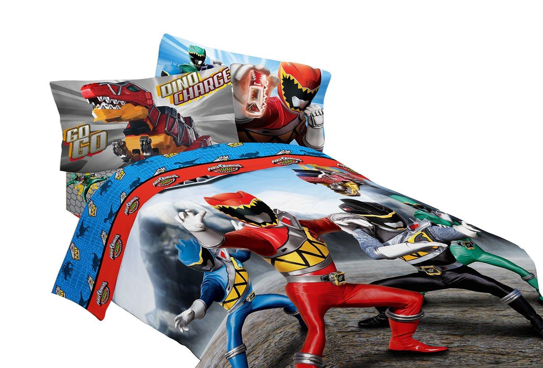 Saban Power Rangers Dinosaur Rumble Microfiber Comforter Twin//Full