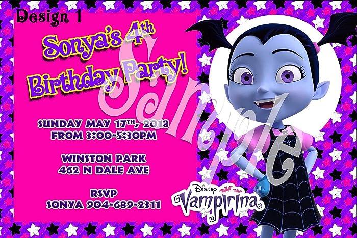 Amazon vampirina personalized birthday invitations more designs vampirina personalized birthday invitations more designs inside filmwisefo