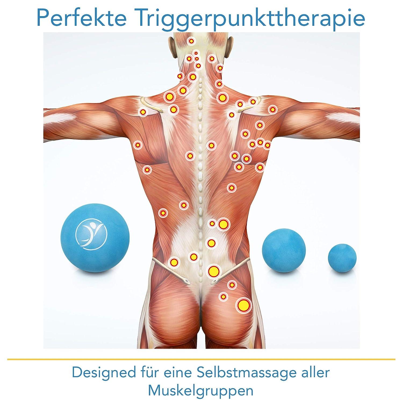inkl E-Book 5er Set Premium Massageball Set f/ür gezielte Triggerpunkt Therapie /& Selbstmassage diRiva EINF/ÜHRUNGSANGEBOT Faszien Ball - in verschiedenen Gr/ö/ßen /& unterschiedlichem H/ärtegrad