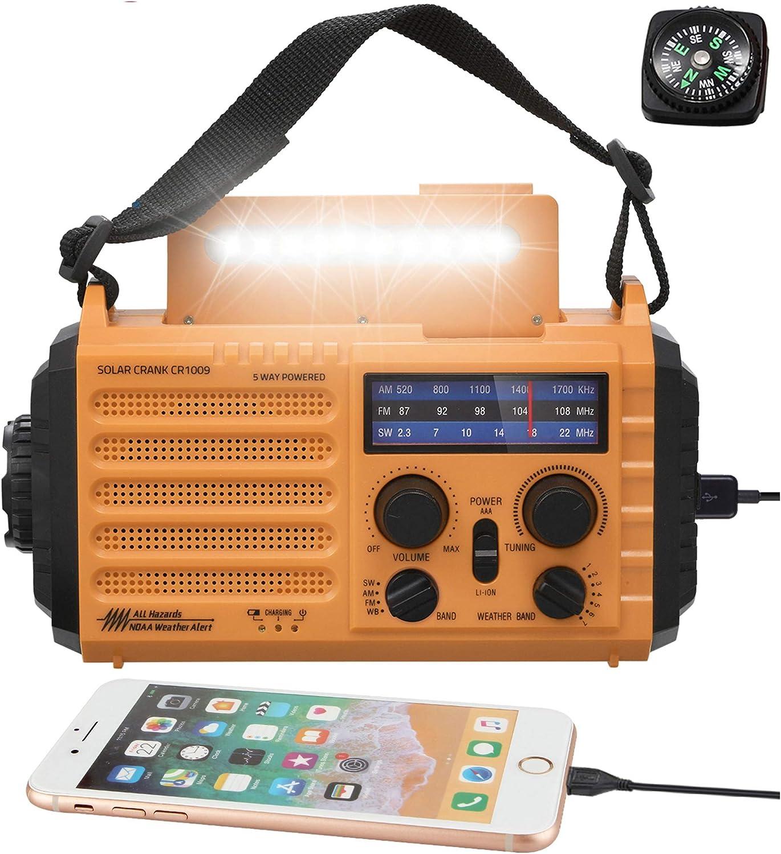 Mesquool 5000mAh Weather Radio