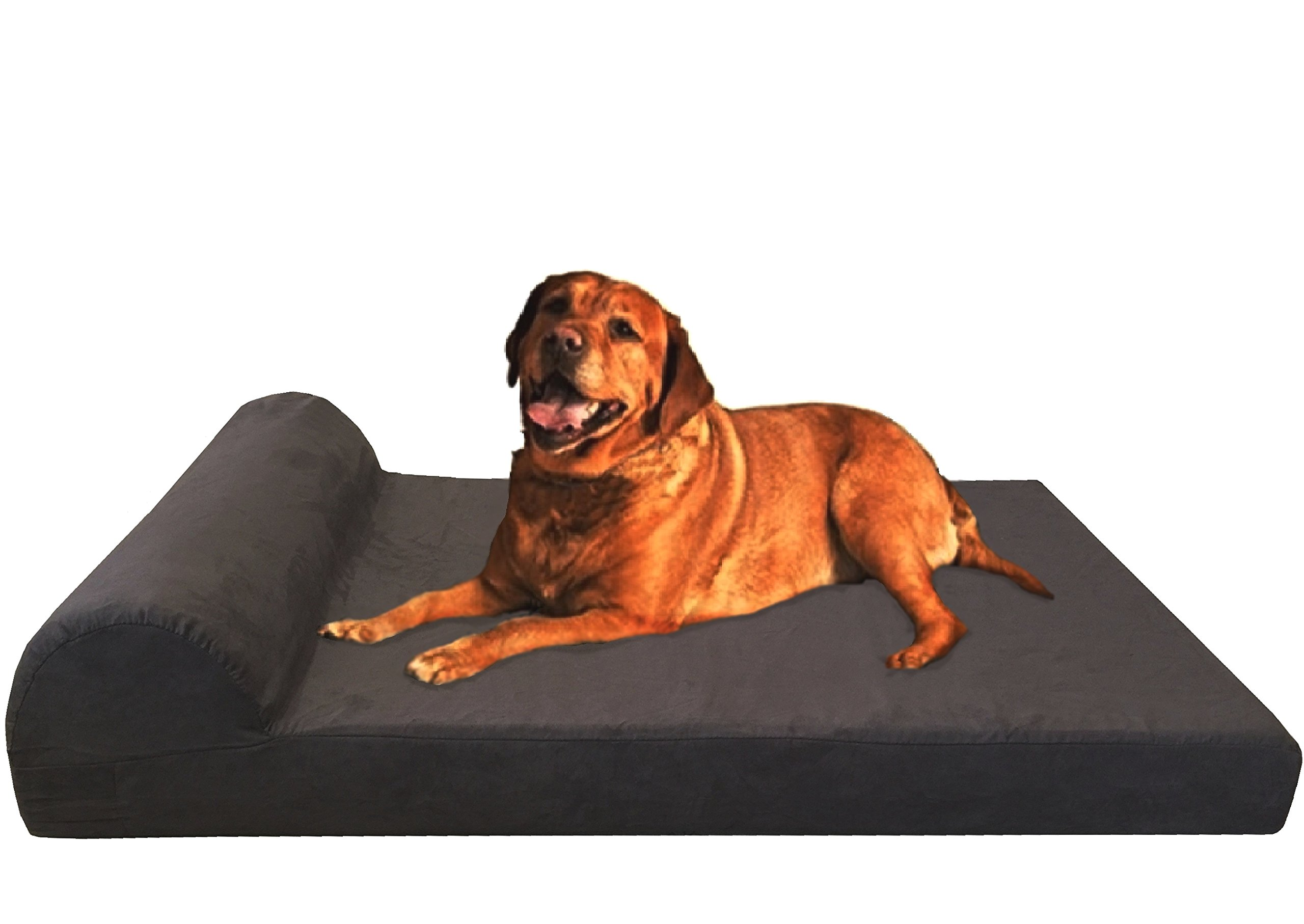 dog brownxxljumbo large chew medium pet foam resist xl itm memory ballistic bed waterproof extra