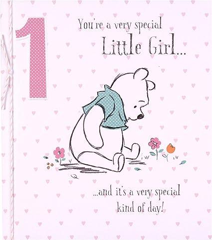 Hallmark Carte D Anniversaire 1 An Pour Petite Fille Motif Winnie L Ourson Amazon Fr Fournitures De Bureau
