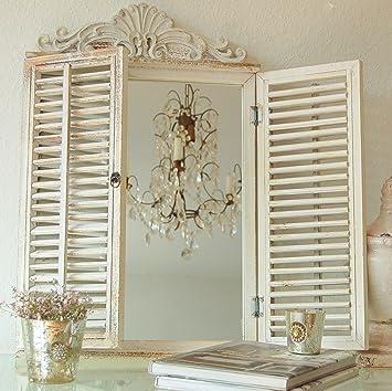 charmant miroir mural style maison de campagne rtro faux nglig chic avec volets