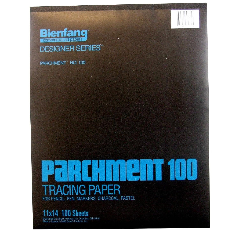 Bienfang 100 pergamino 100 Bienfang Pad, Blanco, 11 by 14
