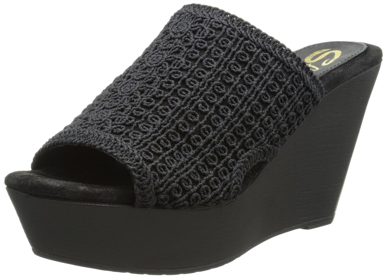 Sbicca Women's Morrobay Wedge Sandal B00O1COAQI 7 B(M) US|Black