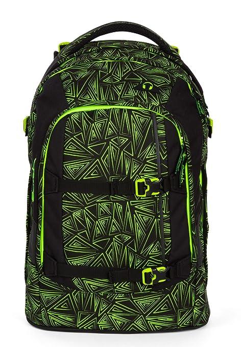 Satch – Mochila escolar (Juego de 4 piezas Pack Green Bermuda 9 K9 Green Bermuda