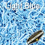 Mighty Gadget (R) 1 LB Light Blue Crinkle Cut Paper Shred Filler for Gift Wrapping & Basket Filling