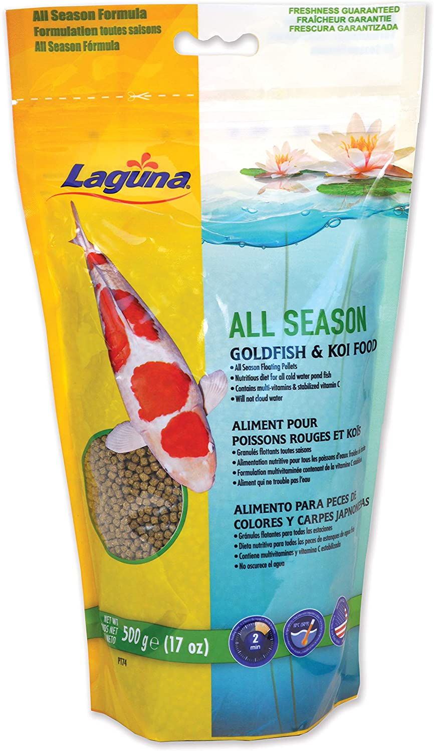 Laguna All Season Goldfish & Koi Floating Food, 17 oz