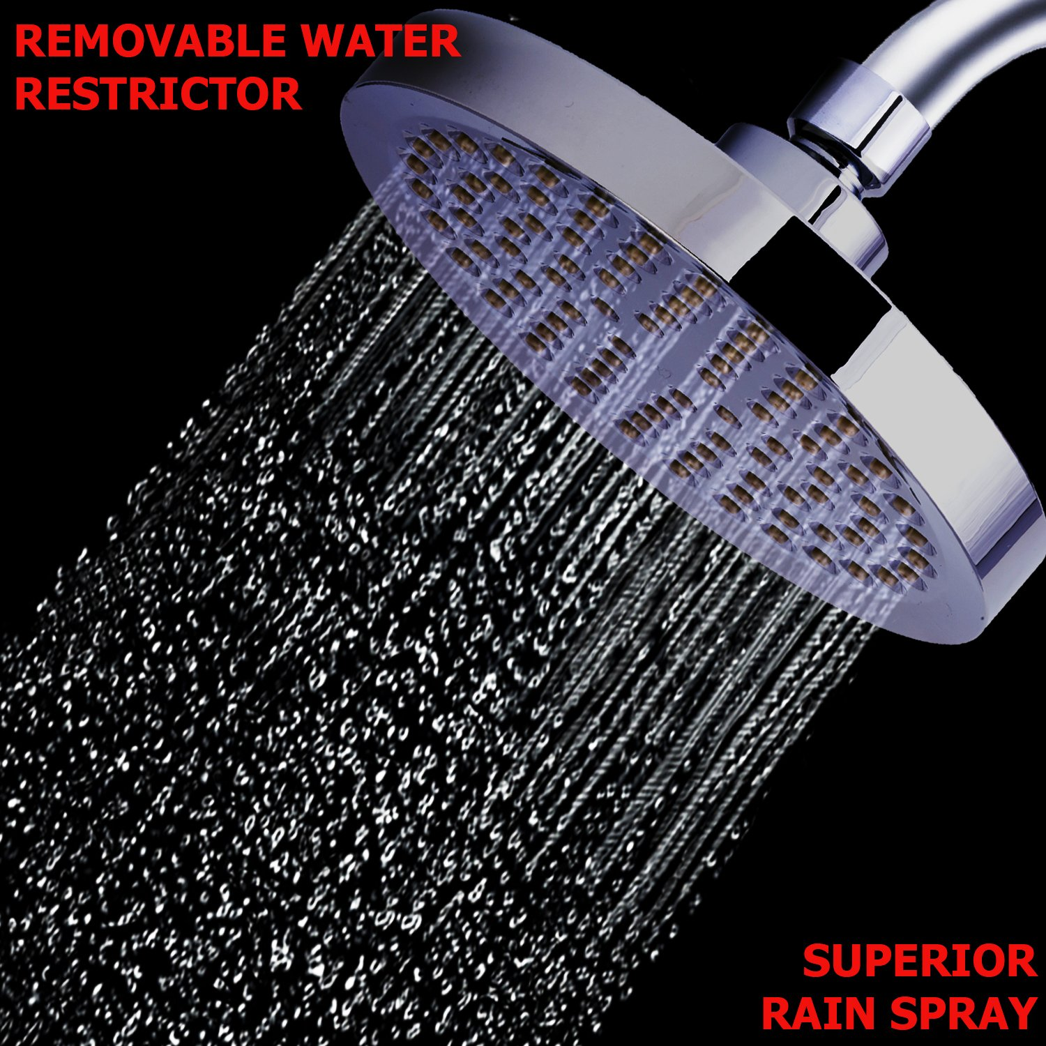 Shower Head - Rainfall High Pressure 6\