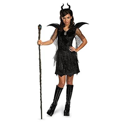 Disney Maleficent Movie Black Gown Tween Deluxe Costume, X-Large/14-16: Toys & Games