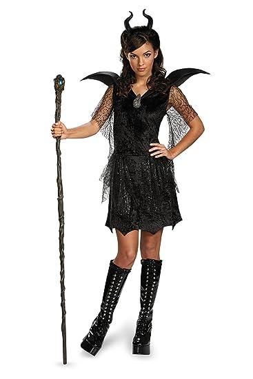 Disney Maleficent Movie Black Gown Tween Deluxe Costume Junior 7 9