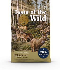 Taste of the Wild Grain Free High Protein Real Meat Recipe Pine Forest Premium Dry Dog Food