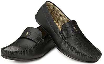 e348bec4814 Walktoe R-Logs Black Loafer Shoes for Men  Buy Online at Low Prices in  India - Amazon.in