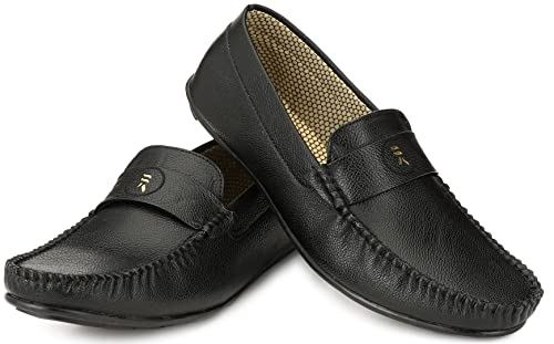 532b04906e8 Walktoe R-Logs Black Loafer Shoes for Men  Buy Online at Low Prices in India  - Amazon.in