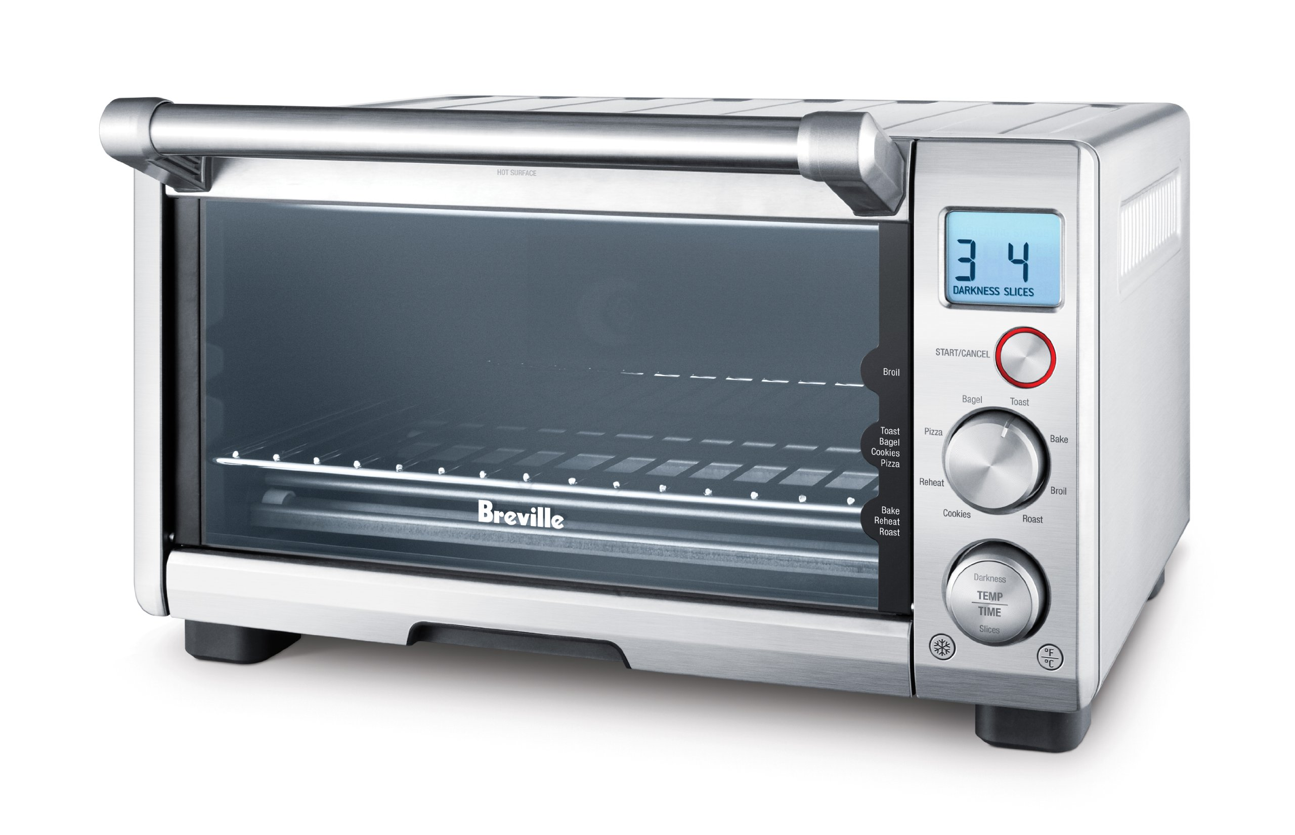 BREVILLE the Compact Smart Oven, Countertop Electric Toaster Oven BOV650XL by Breville