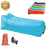 Gaduge Upgraded 2020 Giant Inflatable Lounger Chair Hangout Sofa with 10 Useful Accessories in 8 Fun Colors! Waterproof Inflatable Couch Bed for Indoor, Outdoor, Pool, Beach, Camping and