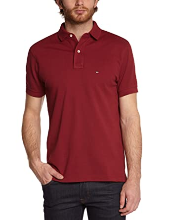 Tommy Hilfiger New Knit Polo RF, Hombre, Rojo (Rally Red 607) S ...