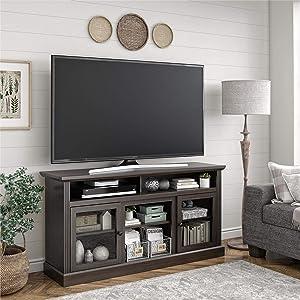"Ameriwood Home Chicago 65"", Espresso TV Stand,"