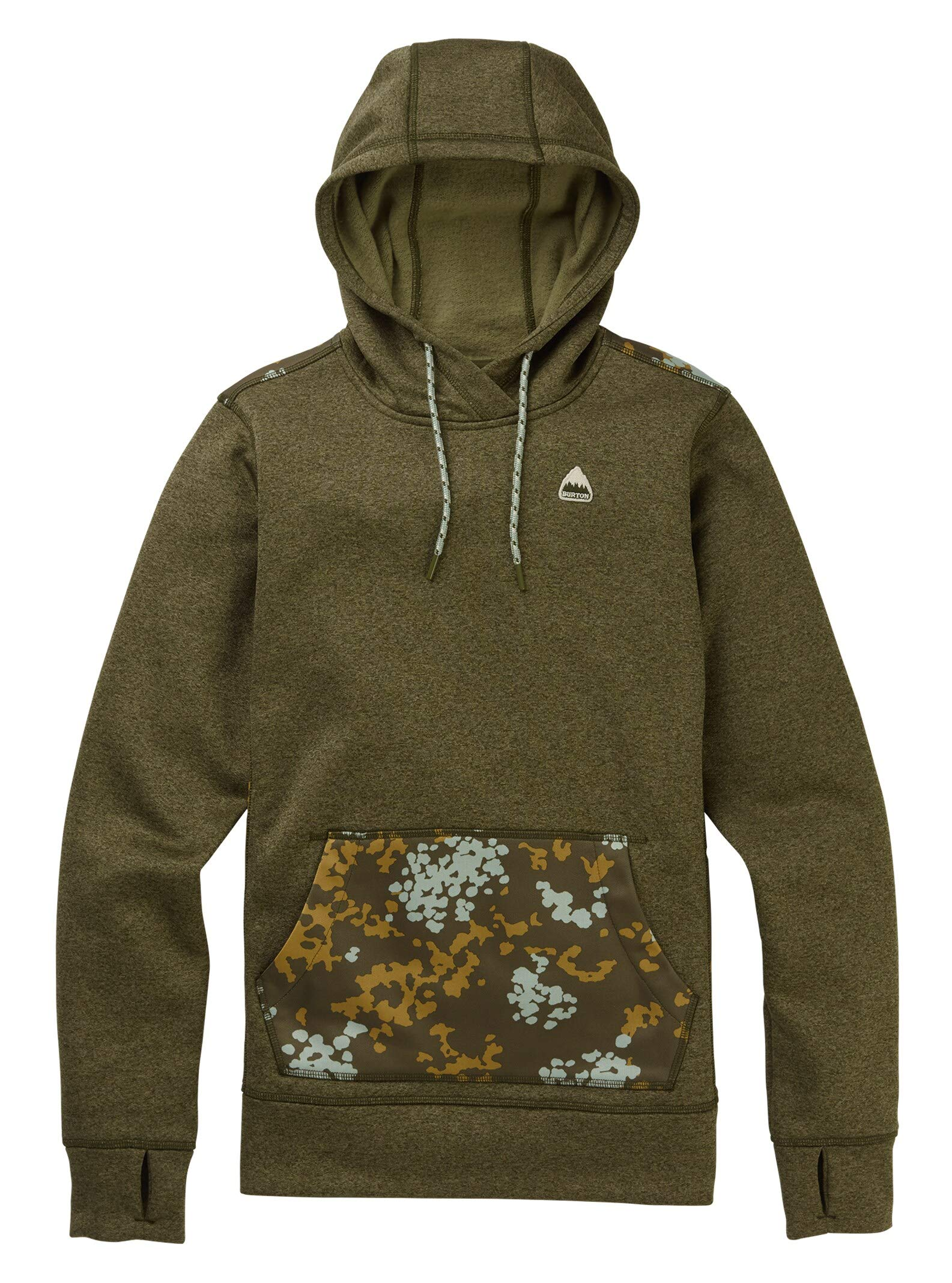 Burton Women's Oak Pullover Hoodie, Keef Heather/Wheeler Camo, X-Small by Burton