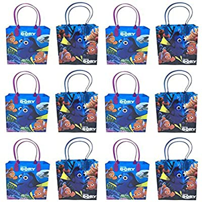 Disney Finding Dory Premium Quality Party Favor Reusable Goodie/Gift/Bags 12 Pieces: Toys & Games