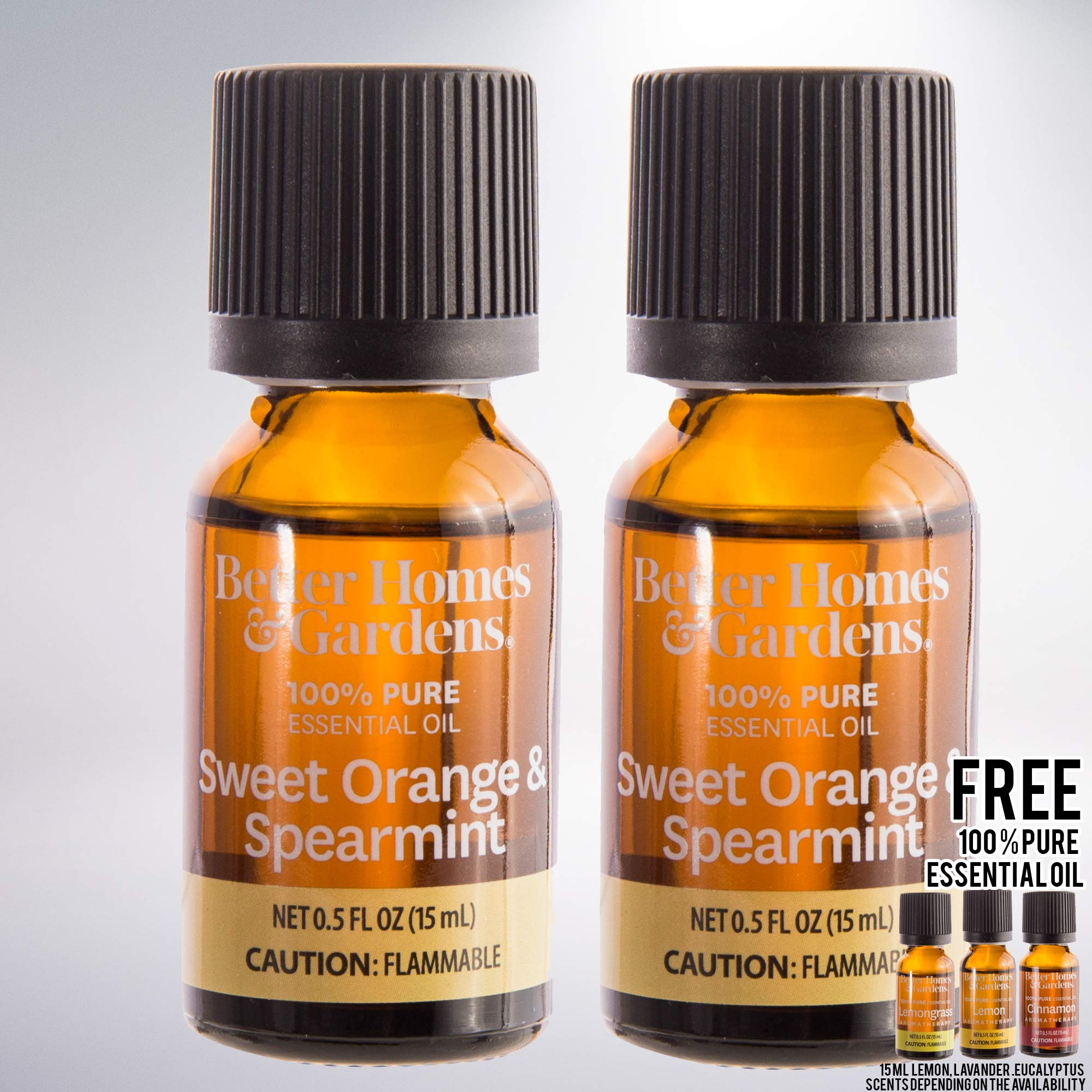15 mL 100% Pure Essential Oil Set of 2 bundled with free 15 mL 100% Pure Essential Oil (Sweet Orange & Spearmint)