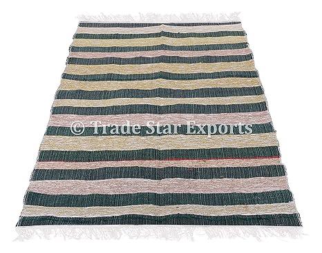 Tappeti In Tessuto Riciclato : Trade star exports grande superficie rag tappeti decorativi