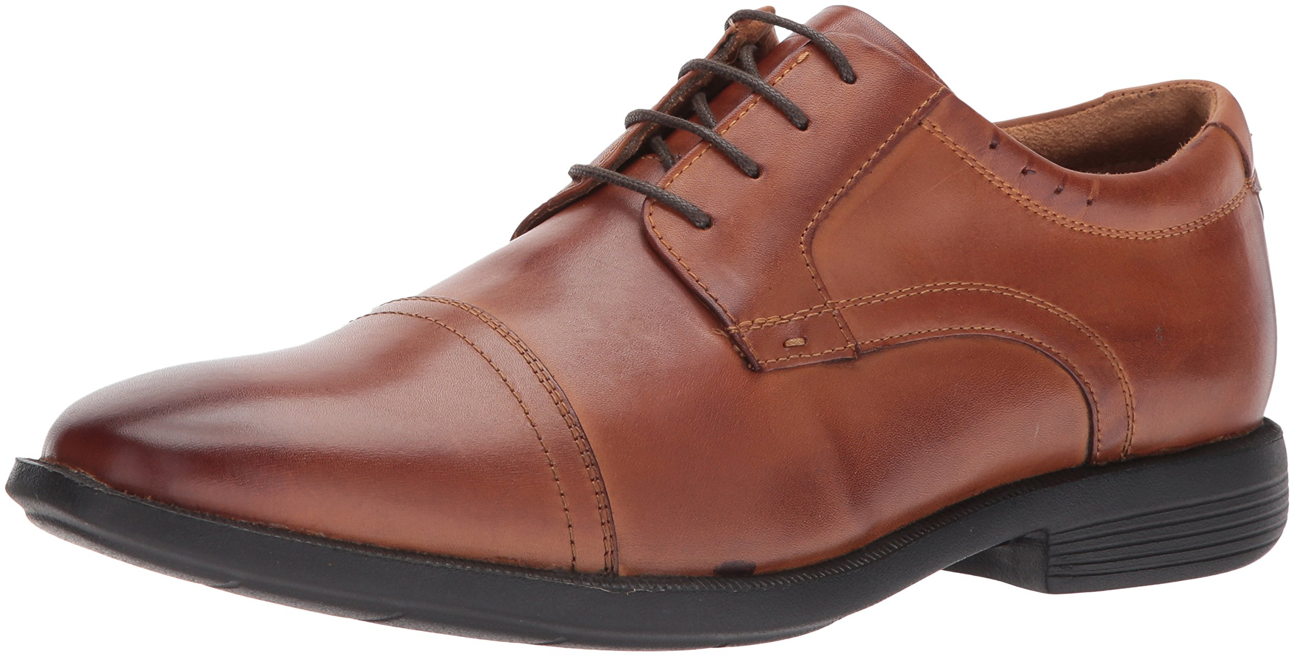 Nunn Bush Men's Dixon Cap Toe Lace up Oxford, Cognac, 8.5 W US