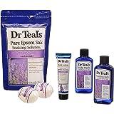 Dr. Teal's Epsom Salt Lavender Bath Gift Set - 5 Pc. (Soothe & Sleep with Lavender)