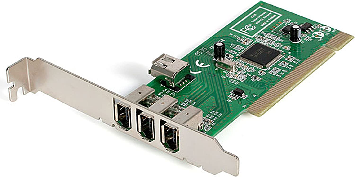 StarTech.com 4 port PCI 1394a FireWire Adapter Card - 3 External 1 Internal FireWire PCI Card for Laptops (PCI1394MP)