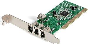 StarTech.com 4 port PCI 1394a FireWire Adapter Card - 3 External 1 Internal FireWire PCI Card for Laptops (PCI1394MP)