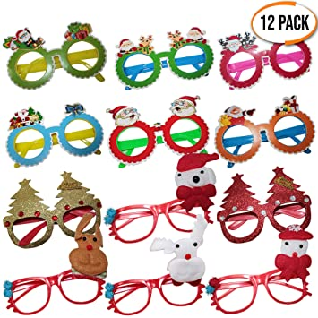 a0768c8d43e0 The Twiddlers Set of 12 Christmas Novelty Glasses - ideal for Children