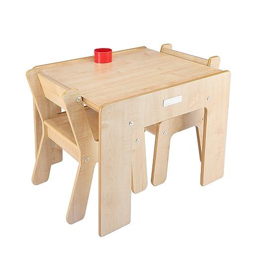 2 opinioni per Little Helper FSD02-1 Tavolino con Portamatite e 2 Sedie per Bambini, Legno