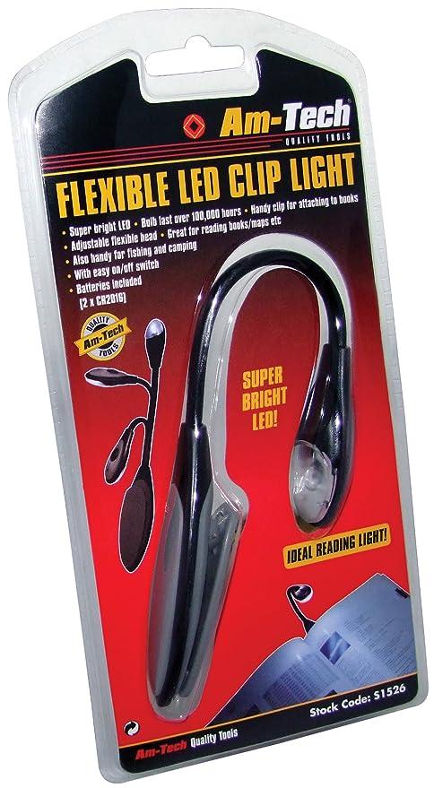 Am Tech Lampe Flexible A Led Avec Pince De Fixation S1526 Cadeaux De