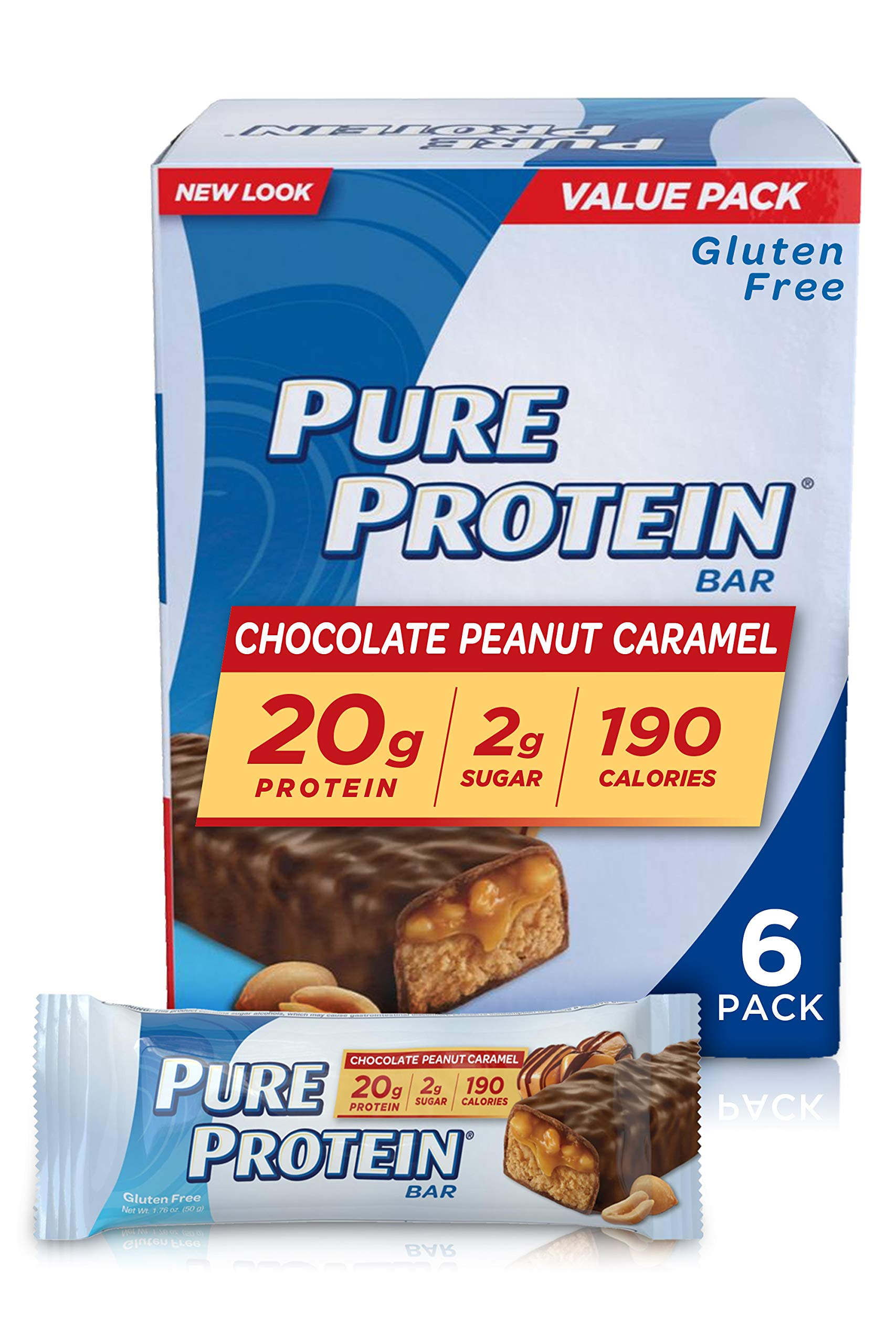 Pure Protein® Chocolate Peanut Caramel, 50 gram, 6 count