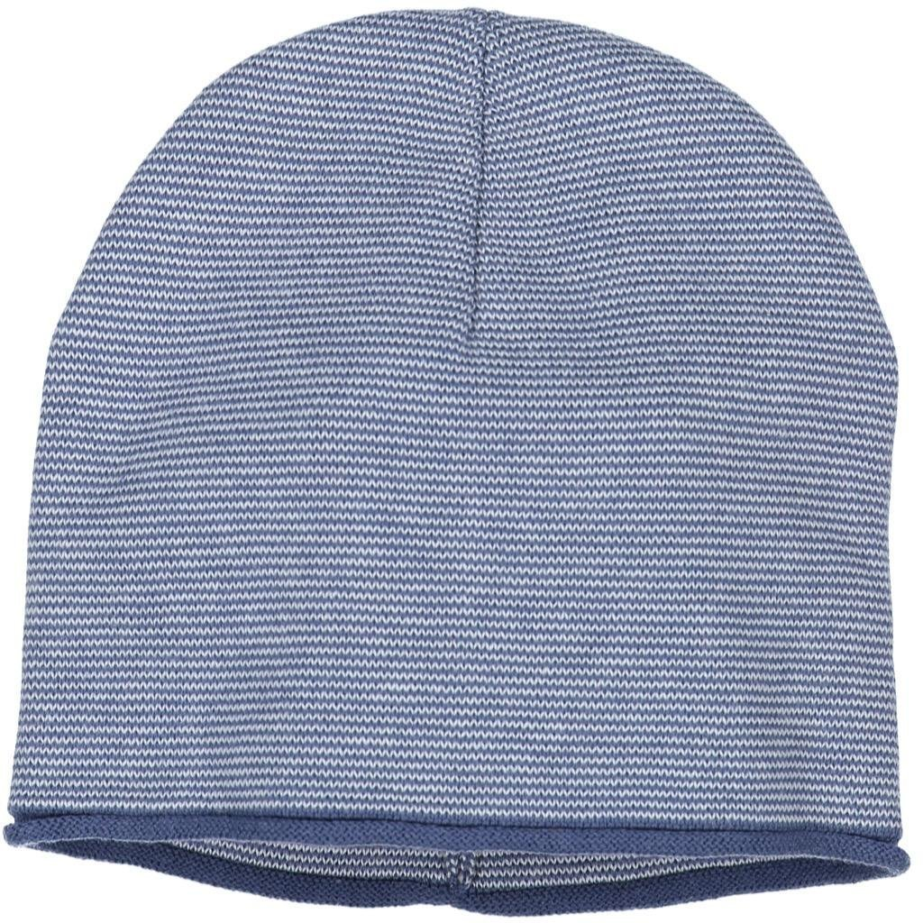 Polarn O. Pyret FINE Stripe ECO Beanie (2-9YRS) - Ensign Blue/2-9 Years