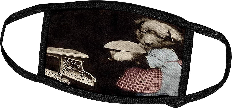 3dRose TNMPastPerfect Animals - Doggy The Homemaker - Face Masks (fm_124183_2)