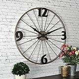 "FirsTime & Co. Bicycle Wheel Wall Clock, 20"", Iron,50077"