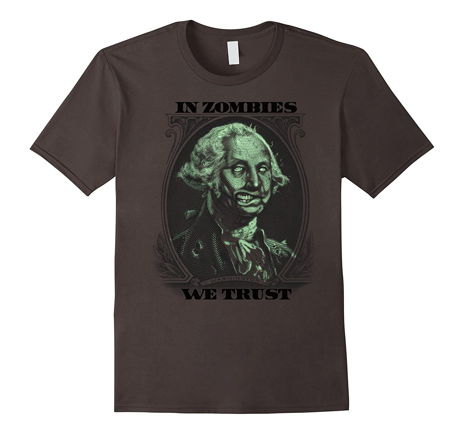 Amazon Com Halloween In Zombies We Trust Dollar Bill Graphic T Shirt Clothing