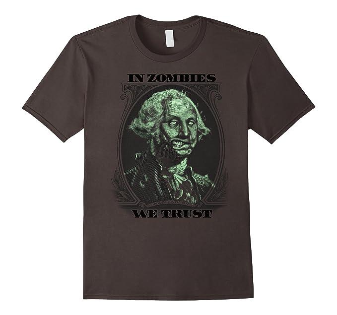 Mens Halloween In Zombies We Trust Dollar Bill Graphic T Shirt 2xl Asphalt