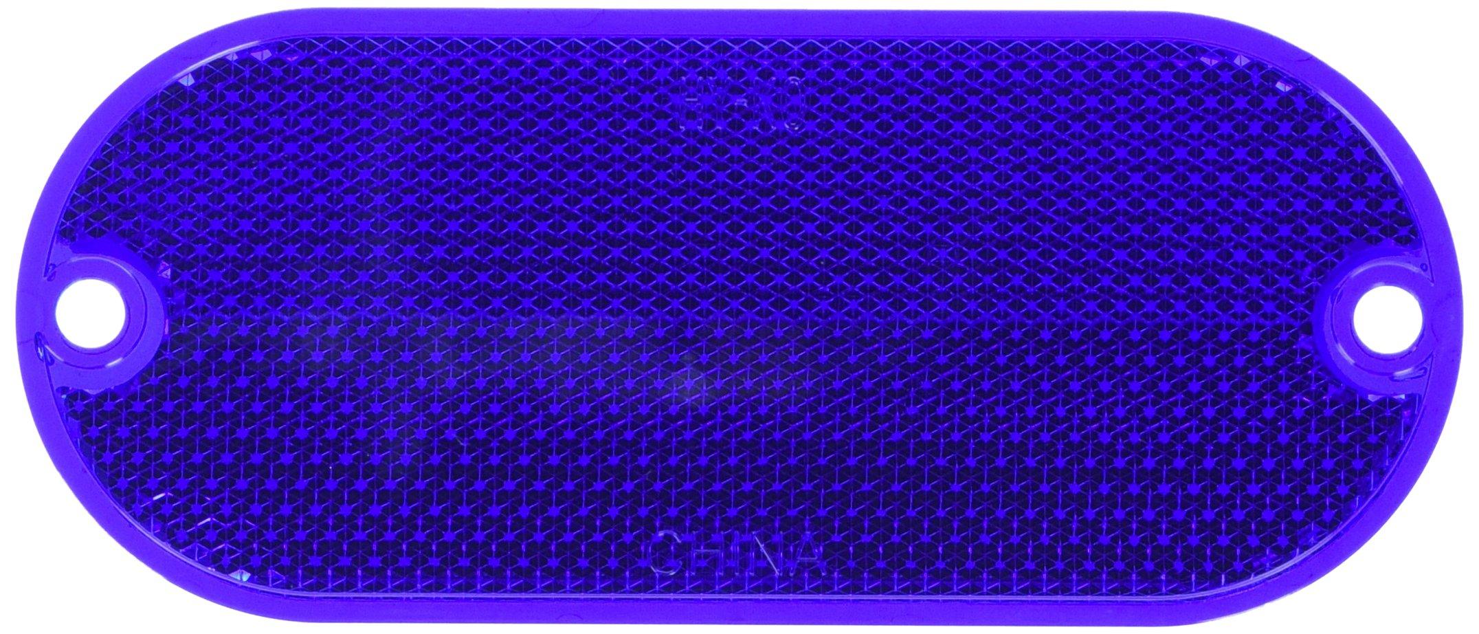 HY-KO PROD Oval Reflector, 2 Pack, 4-3/8'', Blue (CORB-7B)