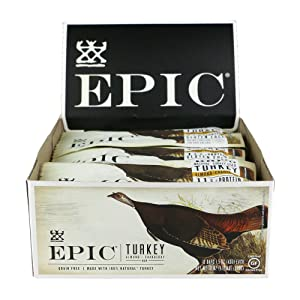 Epic All Natural Meat Bar, Turkey, Almond and Cranberry, 12 Count