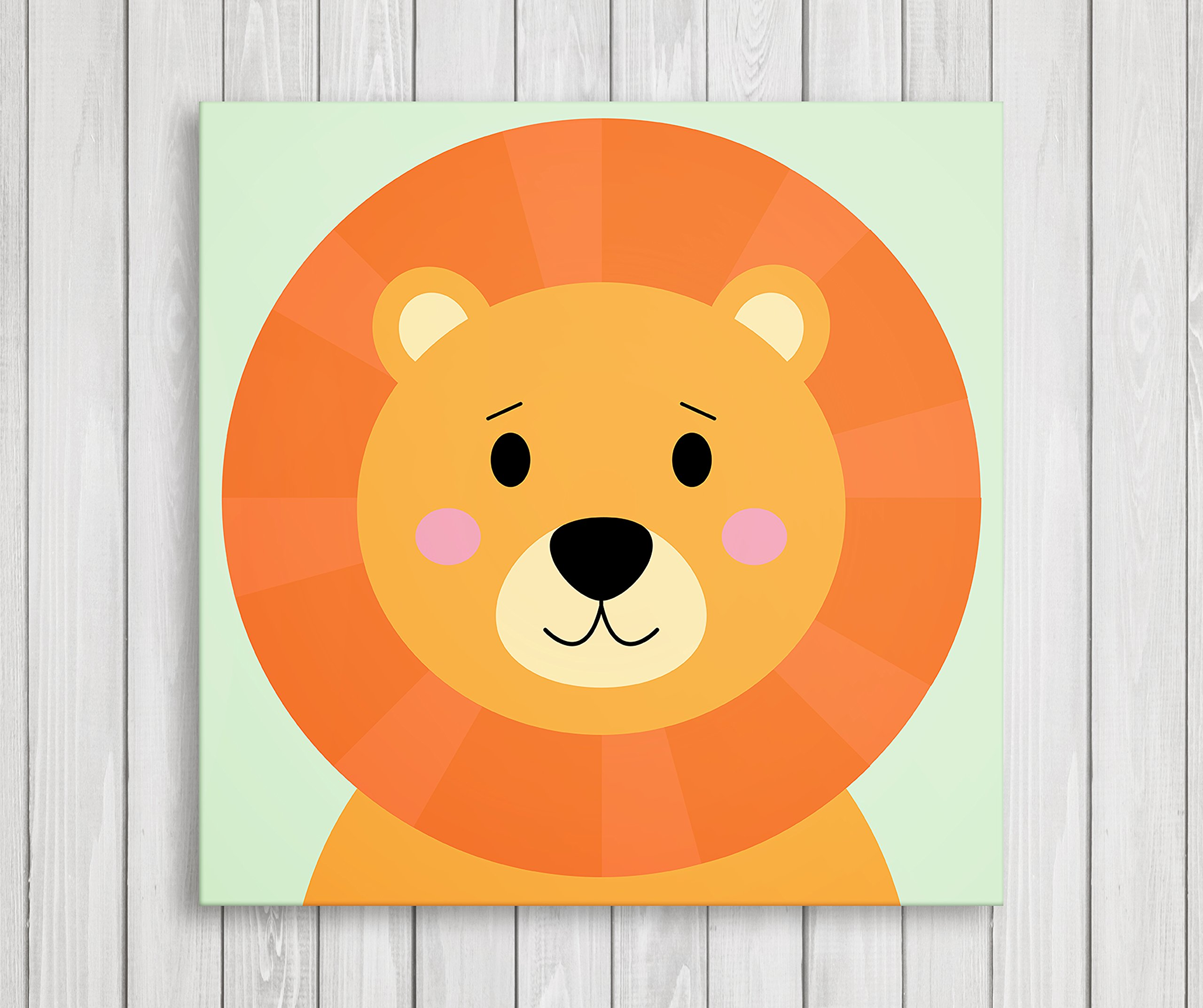 Cute Little Animals, Nursery Canvas Print Wall