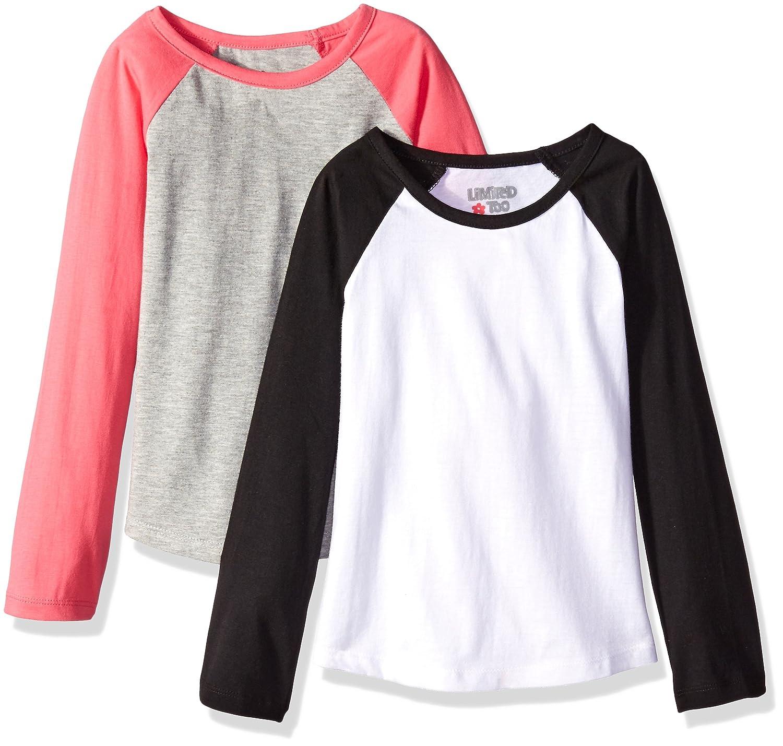 T shirt white black - Amazon Com Limited Too Girls 2 Pack Long Sleeve Baseball T Shirt Clothing