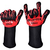 Oven Gloves Heat Resistant,Grilling Gloves for Cooking Outdoors,smoker,BBQ Gloves Camping with Silicone