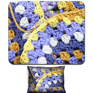 Liili Mouse Wrist Rest and Small Mousepad Set, 2pc Wrist Support IMAGE ID 32461766 Crocheting crochet hook making an afghan blanket in shades of blues and browns a vintage craft
