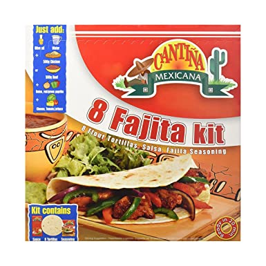 Fajita - Cantina mexicana, 470g, kit de 8 tortillas