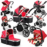 iVogue - Apple Luxury 3in1 Pram Stroller Travel System By iSafe (Complete With Carseat)