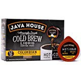 Java House Cold Brew Coffee Concentrate Single Serve Liquid Pods - 1.35 Fluid Ounces Each (Colombian, 12 Count)