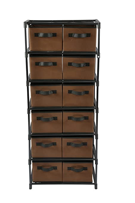 Home Like 12 Drawer Chest Fabric Dresser 6 Tier Storage Organizer Chest Of  Drawers