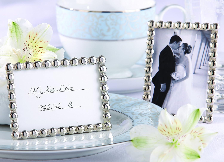 Amazon.com: Kate Aspen Silver Pearls, Mini Photo Frame: Home & Kitchen